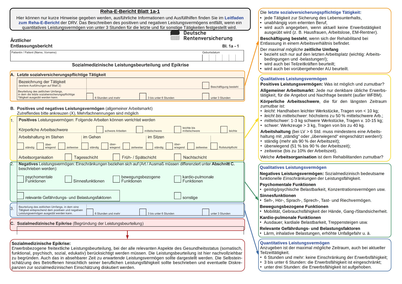 Darstellung Der Leistungsbeurteilung Sozialmedizinische Leistungsbeurteilung